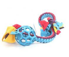 Hundespielzeug, Puppy Spielzeug, Zerrspielzeug Fleece mit JW Bälle, Hund Seil Spielzeug Best für Hunde/Welpen spielen, spielen Zerrspielzeug, ideal für Hund Training, schleppboote, weiches und flexibles Tug Seile, Hohe Qualität