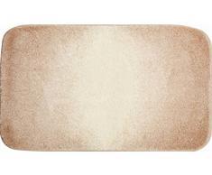 GRUND Badteppich 100% Polyacryl, ultra soft, rutschfest, ÖKO-TEX-zertifiziert, 5 Jahre Garantie, MOON, Badematte 70x120 cm, beige