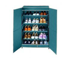 Wenko 4381634500 Schuhschrank Breeze für bis zu 15 Paar Schuhe, Polypropylen Faserstoff, 61 x 90 x 32 cm, petrol