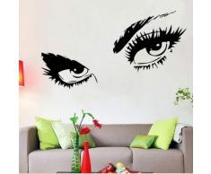 Audrey Hepburn Sexy Augen/attraktives Eye Wandbild Aufkleber Art Decor-Vinyl Aufkleber 23.6 by 49.2 schwarz