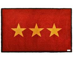 Zala Living 102101 Fußmatte Schmutzfangmatte Sauberlaufmatte Türmatte Dekomatte, Polyamid, rot, 50 x 70 x 0,7 cm