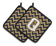 Carolines Treasures CJ1057-QPTHD Topflappen, Buchstabe Q Chevron, Marineblau und Gold, 7,5 x 7,5 W, mehrfarbig