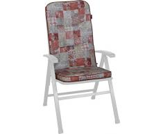 Angerer Hochlehnerauflage Exklusiv Stuhlauflage, rot