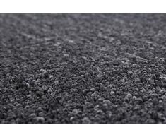 Teppichboden Auslegware Bodenbelag Textilrücken strapazierfähig anthrazit 500 x 400 cm. Weitere Farben und Größen verfügbar