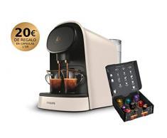 Philips Barista Kaffeemaschine, kompatibel mit Einzel- oder Doppel-Kapseln, 19 bar Druck, Tank 1 l, inkl. Verkostungsset, Weiß