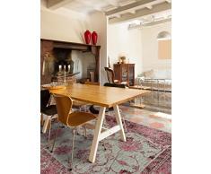benuta Flachgewebe Teppich Frencie Flora Lila 80x165 cm   Pflegeleichter Teppich für Flur und andere Wohnräume
