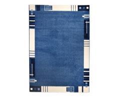Andiamo 1100309 Teppich Le Havre, Webteppich mit Bordüre, 120 x 170 cm, blau