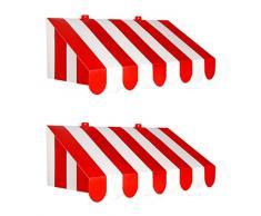 Beistle 54934 3D Awning Party-Deko, Papier, rot/weiß