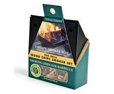 Charcoal Companion Gas-Grill mit Räucherbox und Räucherchips, schwarz/natural, 6,35 x 15,75 x 21,18 cm, CC9412