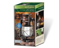 Northpoint Vintage Stil 12 LED Laterne, Kupfer