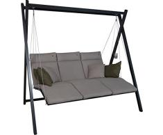 Angerer Relax Hollywoodschaukel 3-Sitzer Smart, sand, 220 x 150 x 210 cm, 7000/269