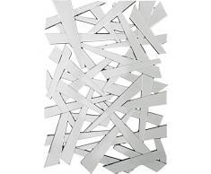 Kare 74892 Wandspiegel Coccio, großer, moderner Designer-Dekospiegel, ausgefallener XXL-Designspiegel in Scherbenoptik (H/B/T) 140x100x3cm