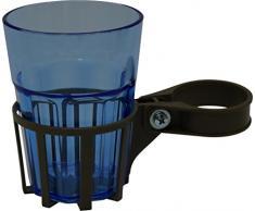 Angerer Getränkehalter für Hollywoodschaukel mocca, inkl. Becher blau, 973/0004