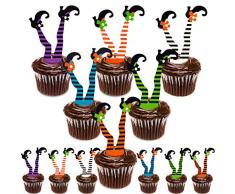 Whaline 30 Pack Halloween Cupcake Toppers, Hexenstiefel Papier Cupcake Dekorationen für Cupcake Dish Dekoration Party Supplies