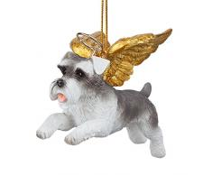 Christbaumschmuck - Ehren Die Pooch Zwergschnauzer Feiertags-Engels-Hundeornamente