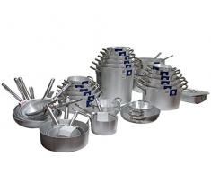 Pardini Schmortopf Aluminium Media 4 Spalten 40 Töpfe und Vorbereitung