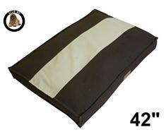Ellie-Bo Hundebett für Hundekäfig, Größe XL, 100 x 66 cm, gestreift, Braun/cremefarben
