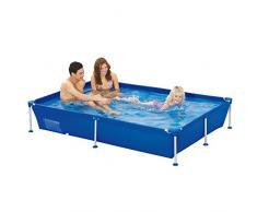 Jilong Passaat Swimming Pool 188x127x42 cm rechteck Becken, Stahlrohr Schwimmbecken Stahlrahmen Schwimmbad Familienpool Ersatzbecken ohne Zubehör für Garten und Terasse