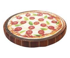 Croci Italienische Küche Pizza Kissen, 50 x 50 x 5 cm