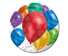 Creative Converting 427800 Dinner Plates Essteller, Papier, Luftballon Blast