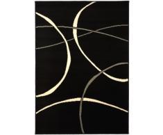 benuta 4053894293191 Teppich Swing 120x170 cm Teppich, Kunstfaser, Schwarz, 120 x 170 cm
