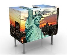 Apalis 53867 Waschbeckenunterschrank New York At Night, 60 x 55 x 35 cm