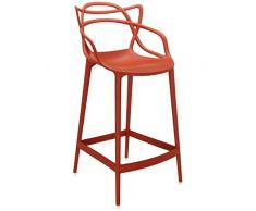 Kartell 586815 Hocker Masters Stool, orange