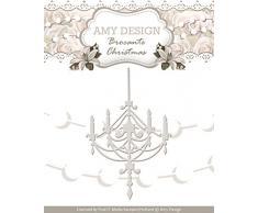Amy Design Brocante aus dem Weihnachten Kronleuchter sterben, weiß