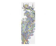 Apalis 78593 Wandgarderobe Blütenrausch | Design Garderobe Garderobenpaneel Kleiderhaken Flurgarderobe Hakenleiste Holz Standgarderobe Hängegarderobe | 139x46cm