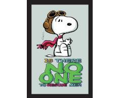 empireposter - Peanuts - Baron Snoopy - Größe (cm), ca. 20x30 - Bedruckter Spiegel, NEU - Beschreibung: - Bedruckter Wandspiegel mit schwarzem Kunststoffrahmen in Holzoptik -
