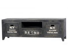 SIT-Möbel 4275-11 Lowboard Bronx, 150 x 40 x 50 cm, Mangoholz lackiert, antikschwarz