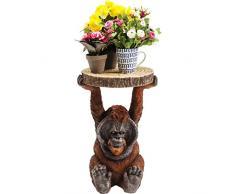 Kare Beistelltisch Animal Orang Utan, Ø33cm, kleiner, runder Couchtisch, Holzoptik, Tierfigur als ausgefallener Wohnzimmertisch, (H/B/T) 52x35x33cm