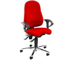 Topstar SITNESS 10 Bürodrehstuhl - Sitzfläche orthopädisch, inklusive Armlehnen - rot - Bandscheibenstuhl Bandscheibenstühle Bürodrehstuhl Designdrehstuhl Designdrehstühle Drehstuhl Stuhl Bandscheibendrehstuhl