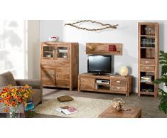 Massivum Torino Wohnwand, Holz, braun, 45 x 120 x 140 cm