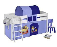Lilokids IDA4105KW-PIRAT-BLAU Kinderbett, Holz, pirat blau, 208 x 98 x 113 cm