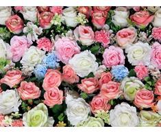 AG Design FTXXL 1468 Blumen, Papier Fototapete - 360x255 cm - 4 teile, Papier, multicolor, 0,1 x 360 x 255 cm