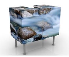 Apalis 53074 Waschbeckenunterschrank Fluss in Kanada, 60 x 55 x 35 cm