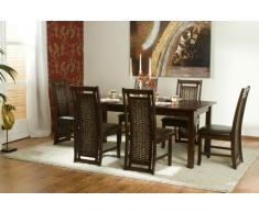 Massivum 80001398 Oxaca Tischgruppe, Holz, braun, 90 x 150 x 75 cm