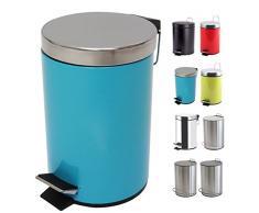 MSV Treteimer Mülleimer Kosmetikeimer Abfalleimer 5 Liter - Blau