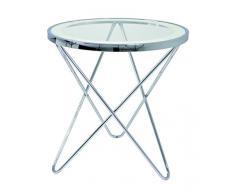 Haku-Möbel Beistelltisch, 55 x H: 56 cm, chrom