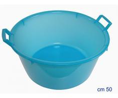 Stefanplast Rundes Waschbecken, Polyethylen, 10 l, Neutralblau, Plastik, Neutral/Pale Blue, 30 l