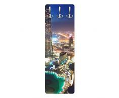 Apalis 78802 Wandgarderobe Dubai Marina | Design Garderobe Garderobenpaneel Kleiderhaken Flurgarderobe Hakenleiste Holz Standgarderobe Hängegarderobe | 139x46cm