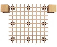 Tojo Bett - Tojo system Funktionsbett -200 x 200 cm - Ideal als Gästebett, Studentenbett, Jugendbett - Das flexible Raumwunder - Unbehandeltes Holzbett ohne Schrauben, Beschläge