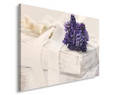 Feeby, Wandbild - 1 Teilig - 60x80 cm, Leinwand Bild Leinwandbilder Bilder Wandbilder Kunstdruck, LAVENDEL, NATUR, VIOLETT