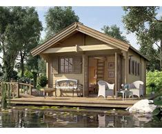 Weka Gartenhaus, Weekendhaus 155, 45 mm, PanoramaDT, natur, 690x500x358 cm, 155.4356.30.00