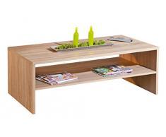 Inter Link 19400090 Couchtisch Wohnzimmertisch Tisch Wohnzimmer Sonoma Eiche 115x60 cm modern NEU
