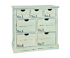 HAKU Möbel Kommode, 30 x 70 x H: 68 cm, weiß gekälkt