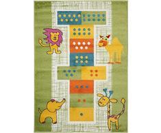 benutaKinder- und Spielteppich Noa Lets Jump! Multicolor 80x150 cm | Teppich für Spiel- und Kinderzimmer