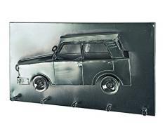 Haku-Möbel Wandgarderobe, 8 x 35 x H: 20 cm, schwarz nickel