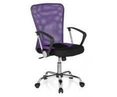 hjh OFFICE 685114 Bürostuhl, Chefsessel Net Star Netzstoff, lila / schwarz / chrom